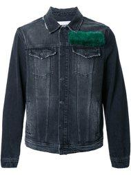 джинсовая куртка с меховой панелью MSGM