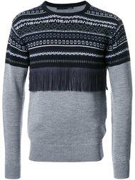 свитер с вышивкой и бахромой Yoshio Kubo