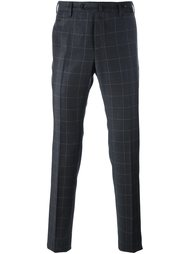 checked tapered trousers Pt01