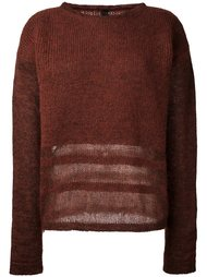 свитер с полосатой отделкой Ilaria Nistri