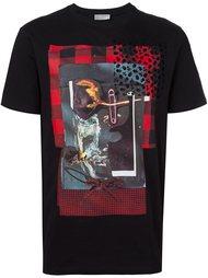 футболка с принтом коллажа  Dior Homme