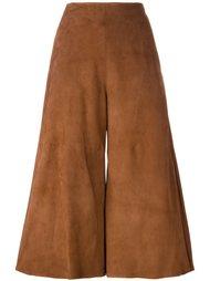 прямые укороченные брюки Drome