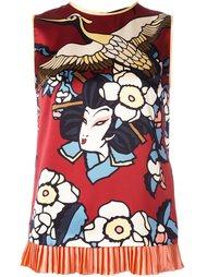 блузка с плиссированным подолом 'Blossom' Dsquared2