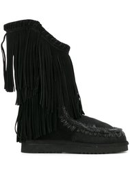 fringed tall boots Mou