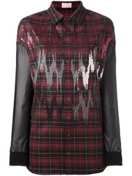 contrast sleeve plaid shirt  Giamba