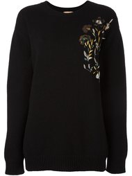 floral embroidery sweater Nº21