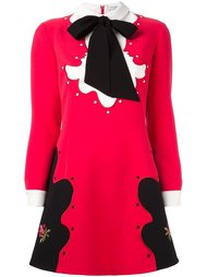 платье-шифт с бантом Vivetta