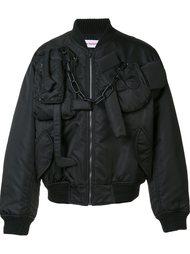chain detail bomber jacket Walter Van Beirendonck