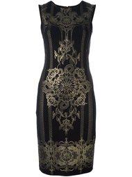 metallic print dress Roberto Cavalli