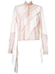 floral lace ruffled blouse  Manning Cartell