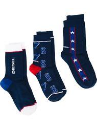 три пары носков 'Skm-Ray' Diesel