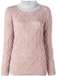 bicolour turtleneck pullover Agnona
