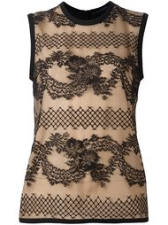 lace detail tank top Elie Saab