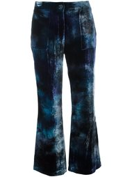 cropped velvet trousers Raquel Allegra