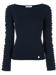 ribbed sleeve jumper Versace Collection