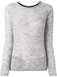 back button fine knit jumper Sun 68
