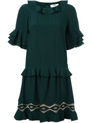 shortsleeved ruffle dress Fendi