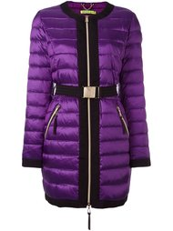 belted puffer jacket Versace Jeans