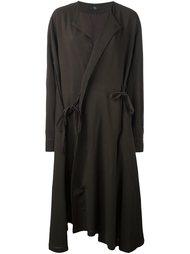 объемное пальто с запахом Y's