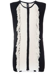 sleeveless raw edge panel cardi-coat Zero + Maria Cornejo