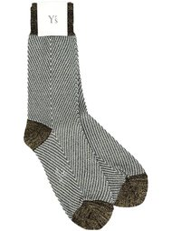 metallic effect socks Y's