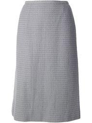 юбка с букле твидом Chanel Vintage