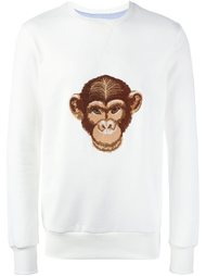 monkey embroidered sweatshirt Lc23