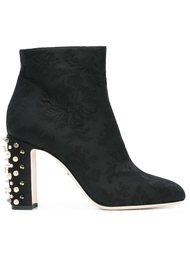 ботинки на декорированном каблуке Dolce & Gabbana