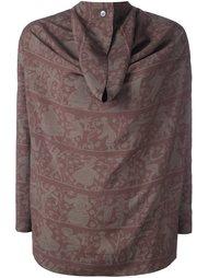 драпированная блузка с принтом дамаск Vivienne Westwood Anglomania