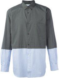 striped panelled shirt Comme Des Garçons Shirt
