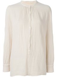 band collar blouse Raquel Allegra