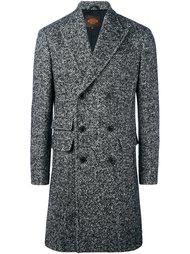 двубортное пальто в елочку  Tod's