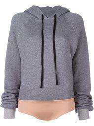 drawstring bodysuit hoodie  Unravel