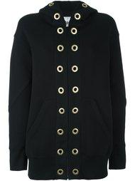 grommet embellished hoodie Sacai