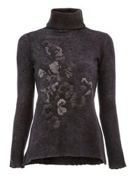embroidered turtle neck sweater Avant Toi