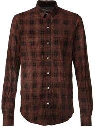 plaid button down shirt Amiri
