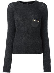embellished pocket sweater Cavalli Class