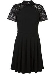 lace sleeve flared dress Blugirl