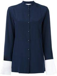 рубашка с контрастными манжетами без воротника Victoria Victoria Beckham