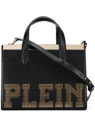 сумка-тоут с заклепками и логотипом Philipp Plein
