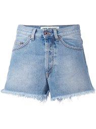 джинсовые шорты с необработанными краями   Off-White