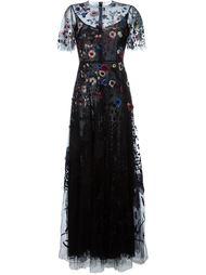 вечернее платье с цветочной вышивкой  Valentino