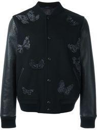 куртка-бомбер с вышитыми бабочками Valentino