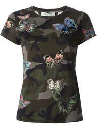 футболка с вышивкой бабочек  Valentino