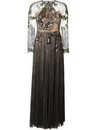 вечернее платье с вышитыми птицами Valentino