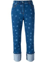 джинсы бойфренды со звездным принтом Valentino