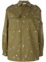 куртка-рубашка с вышитыми звездами Valentino