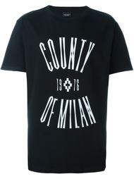 футболка с принтом-логотипом Marcelo Burlon County Of Milan