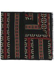 вязаный шарф с этническим орнаментом Valentino