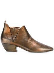 ботинки по щиколотку с металлическим отблеском  Marsèll